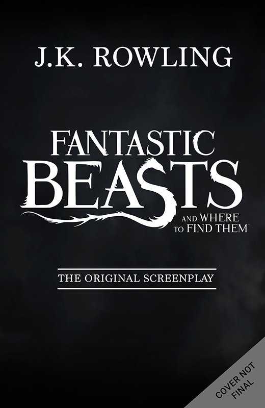 Capa do livro do roteiro de Fantastic Beasts