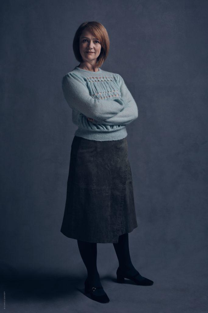 Atriz Poppy Miller caracterizada como Gina Weasley.