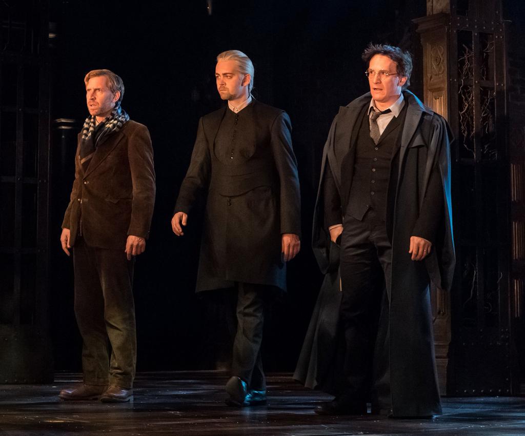 Rony, Draco e Harry chegam ao asilo no qual Amos Diggory mora para investigar Delphi.