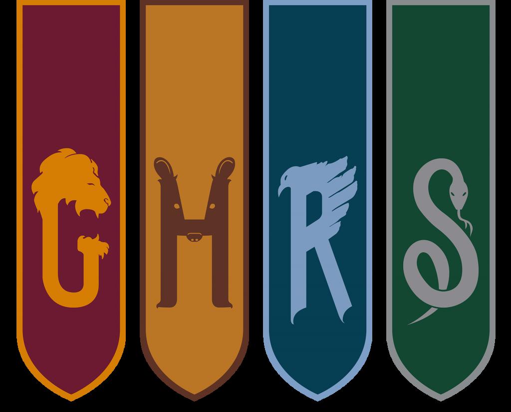 Bandeiras das casas de Hogwarts em Cursed Child.
