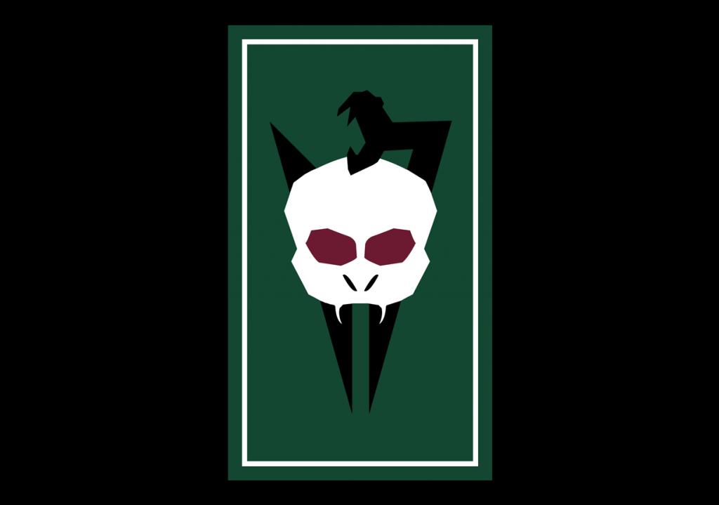 O símbolo do Voldemort Day que abre a segunda parte da peça.