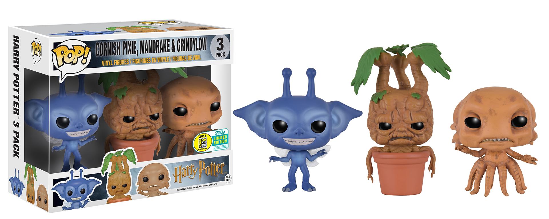 """A caixa na qual o pack Funko Pop! das criaturas mágicas de """"Harry Potter"""" virá."""