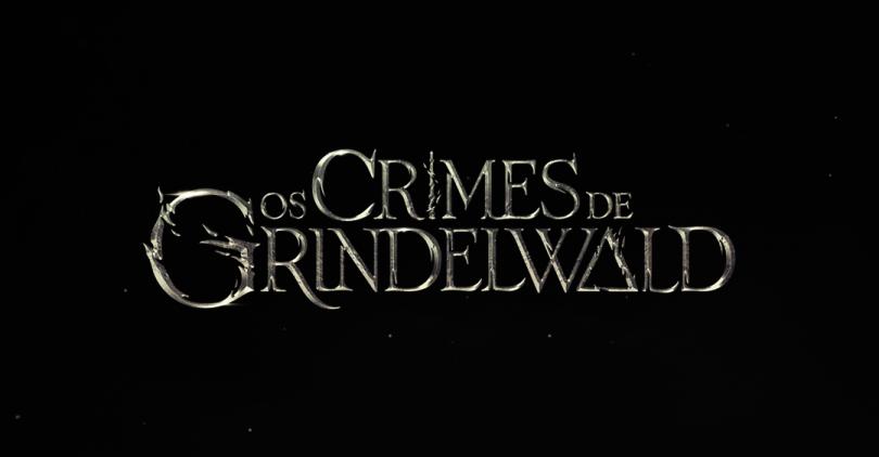 O logo do filme num fundo preto.