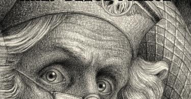 Na capa de Enigma do Príncipe, Snape aparece no topo, apontando sua varinha para a frente. No centro, em destaque, está o rosto de Dumbledore, que usa seus óclinhos de meia-lua e um chapéu. Harry aparece embaixo sob a capa da invisibilidade.