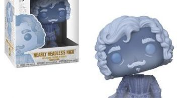 O boneco de Nick Quase-sem-cabeça, com a a cabeça levemente inclinada para o lado.
