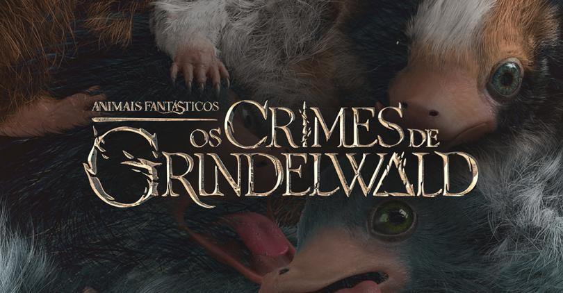 O logo de Os Crimes de Grindelwald aparece sob a imagem dos bebês pelúcios descritos na postagem.
