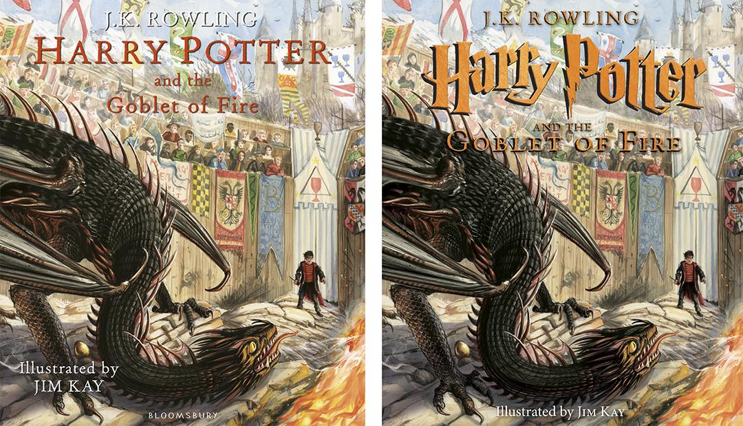 Montagem com a capa britânica à esquerda e a americana à direita. A diferença está apenas no título, que na americana tem a parte