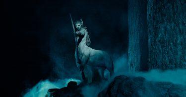 Um centauro de arco e flecha.