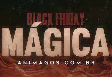 """O texto """"Black Friday mágica: animagos.com.br""""."""