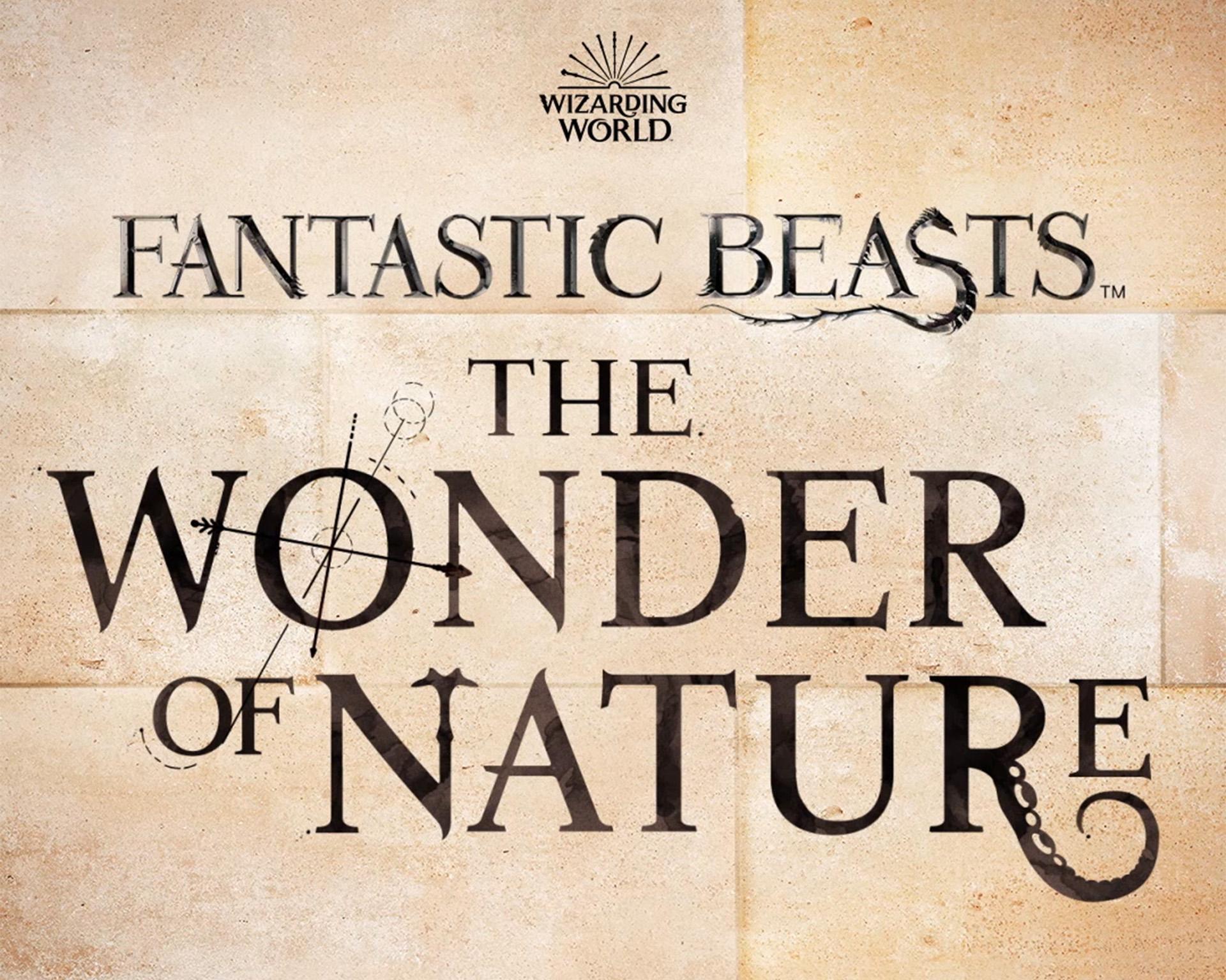 Logo da exibição Fantastic Beasts: The Wonder of Nature.