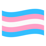 The transgender flag has five horizontal stripes. First one is blue, second is pink, third is white, fourth is pink and fifth is blue.